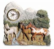 Novelty Horses in Nature Clock
